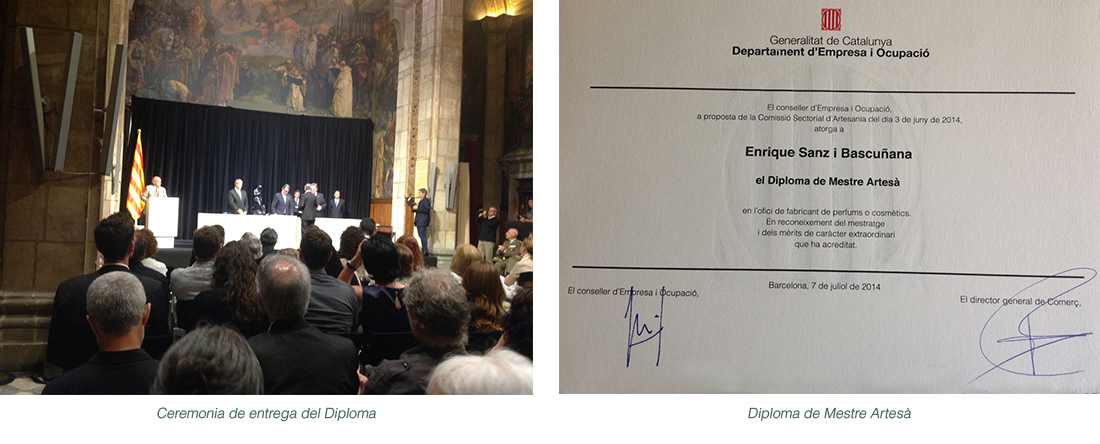 Enrique Sanz Bascuñana - Diploma de Perfumista Natural